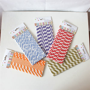 Colorful Paper Drinking Straw with Different Designs pictures & photos
