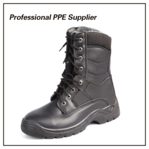 Genuine Leather Black Steel Winter Safety Boot pictures & photos