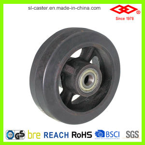 100mm Black Rubber Swivel Locking Castor (P701-42D100X50S) pictures & photos