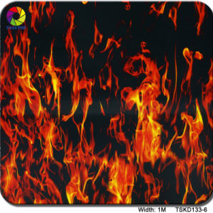 Tsautop 1m Tskh135-2 Flame Pattern 3D Sublimation Film/Transfer Printing Film pictures & photos