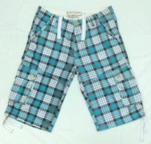Summer Men′s Fashion Boardcargo Printed Latticed Shorts (Tr-06) pictures & photos