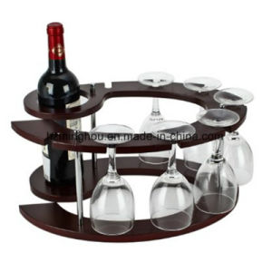 Fashion Creative Wooden Wine Glass Rack for Home Decor pictures & photos