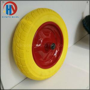 "16"" Solid PU Foam Wheel Metal Rim pictures & photos"