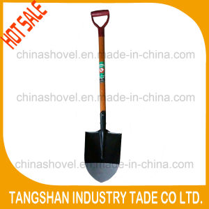 D Type Grip Wood Handle Steel Shovel pictures & photos