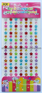 Multi-Color Flower Rhinestone Stickers/Acrylic Borders/Mobile Phone Stickers pictures & photos