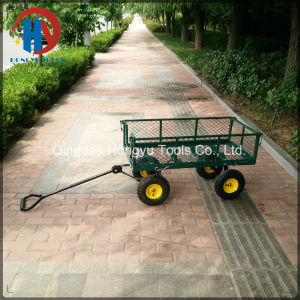 300kgs Capacity Steel Mesh Garden Cart Utility Tool Cart pictures & photos