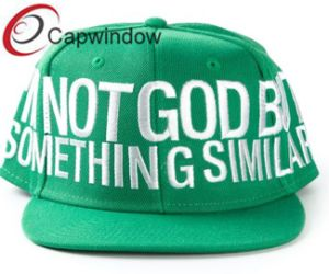 Green Acrylic Snapback Cap with White Logo (01133) pictures & photos