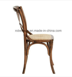 High Quality Vintage Wooden X Cross Back Dining Chair pictures & photos