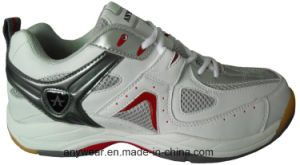 Mens Sports Tennis Shoes Indoor Badminton Court Shoes (815-2267) pictures & photos