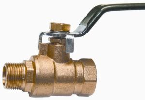 "Full Brass Ball Valve with Steel Lever Handle (1/2"")"
