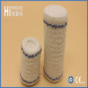 High Quality Bleached Crepe Elastic Bandage with Red Line pictures & photos