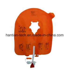 Aquatic Safety Inflatable Life Jacket with Double Air Chamber pictures & photos