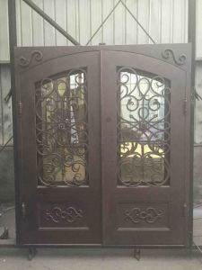 2.5mm Steel Tube with PU Foam Injected Wrought Iron Door pictures & photos