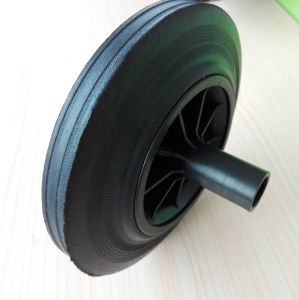 Rubber Solid or Rubber Powder Dustbin Wheel pictures & photos