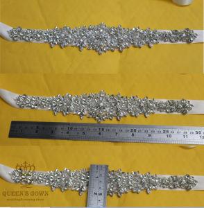 Rhinestone Applique, Crystal Applique for Bridal Sash, Diamante Wedding Applique pictures & photos