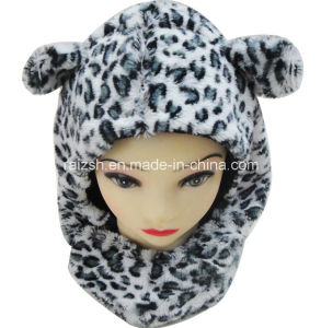 Children Leopard Cubs Hat Scarf Headgear Integrated