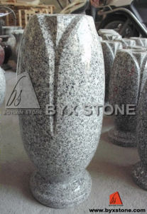 Polished Grey Granite Stone Flower Vase for Gravestone pictures & photos