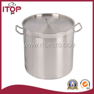 Tall Body Stainless Steel Soup Pot with Compound Bootom (B Series) pictures & photos
