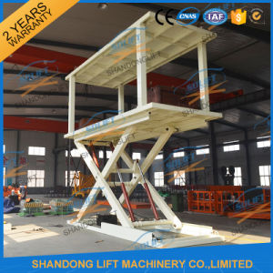 Double Deck Outdoor Scissor Car Lift with Ce pictures & photos