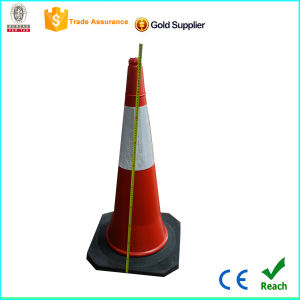 Hot Sales 1m Strong PE Traffic Cone Rubber Base pictures & photos