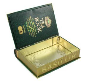 Wholesale Cmyk Printing Book Shape Tin Box pictures & photos