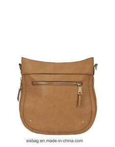 New Designer Zip Shoulder Bag Stitching Women Bag pictures & photos