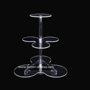 Acrylic Crystal 3 Tire Cake Stand (BTR-K3012) pictures & photos
