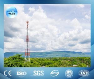 Painted 3-Leg Angular Steel Telecommunication Tower with Antenna Support pictures & photos