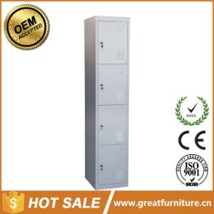 4-Door Changing Room Furniture Steel Clothes Cabinet Metal Locker pictures & photos