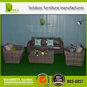 PE Rattan & Aluminum Furniture, Outdoor Rattan Sofa