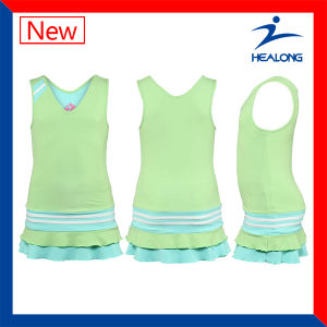 Healong Latest Design Special Full Sublimation Tennis Dress Wear pictures & photos