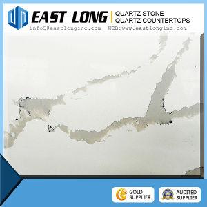 Artificial Marble Vein with Calacatta Quartz Stone Slabs pictures & photos