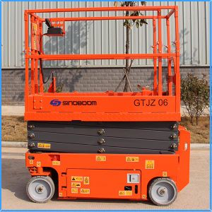 Four-Wheel Move Aerial Scissor Lift