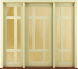 New Design Exterior Solid Wood Prehung Doors Contemporary Style pictures & photos