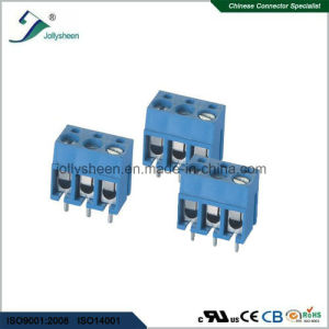 PCB Screw Terminal Blocks Pitch 5.0mm 3p 180deg Type with Blue Housing pictures & photos