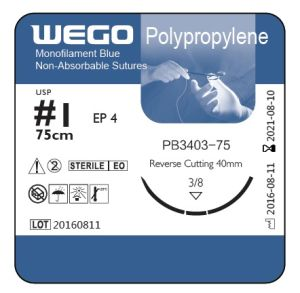 Blue Polypropylene Surgical Sutures with Big Size pictures & photos
