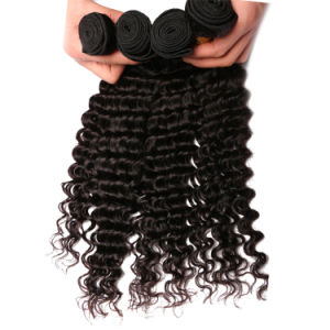 Virgin Unprocessed Human Hair Weave Brazilian Deep Wave pictures & photos