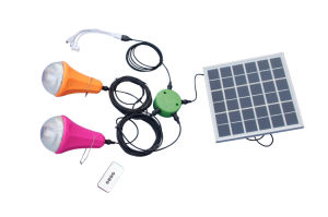 Complete Solar Panel Kit 20W on-Grid Solar System Solar Light with 4 Bulbs pictures & photos