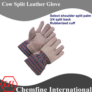 Select Shoulder Split Palm, 3/4 Split Back, Rubberized Cuff Leather Work Gloves pictures & photos