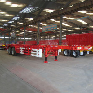 Factory Price Tri-Axle 60 Ton 40FT Container Semi-Trailer pictures & photos