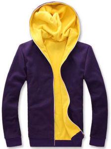 100% Polyester Long Sleeve Zipper Men′s Hoodies