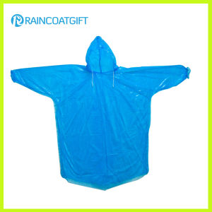 Disposable PE Hooded Sleeve Raincoat Rpe-064 pictures & photos