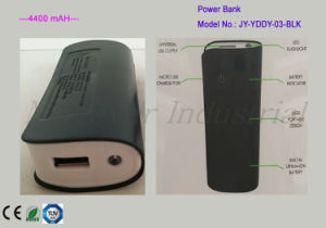 4400mAh Li-ion Battery Travel Power Bank with LED Flashlight pictures & photos