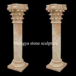 Beige Marble Column Stone Sculpture (SY-C024) pictures & photos