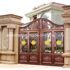 Decorative Modern Power Coated Aluminum Exterior Garden Gate pictures & photos