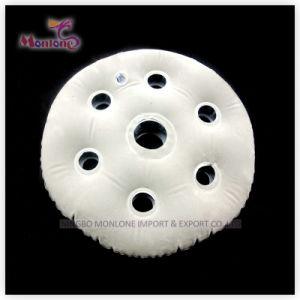 Round PVC Flocking Inflatable Neck Air Pillow40X30cm pictures & photos