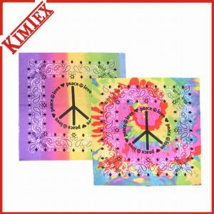100% Polyester Fancy Colorful Screen Printing Bandana pictures & photos