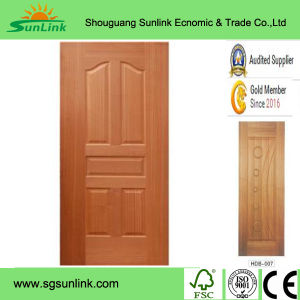 Modern HDF Moulded Door Skin for Interior Decoration pictures & photos