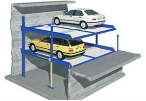 Two Post Garage Equipment Car Auto Parks Parking in Pit