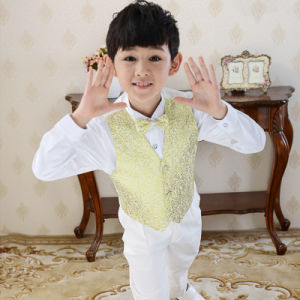Boy Wedding Party Holioday Church Dress Suit Waistcoat pictures & photos